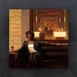 Femme canapé bar